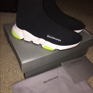 Women's lime green/black trainers